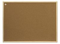 Доска пробковая 2x3 в деревянной рамке ECO 60 x 80 см, фото 1