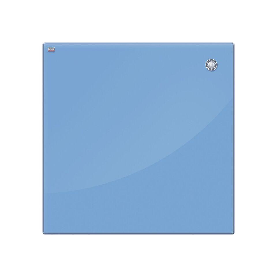Доска стеклянная магнитно-маркерная 2x3 120 х 90 см голубая