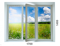 Окно из 6-камерного профиля WDS Ultra6 1700x1400 мм с однокамерным стеклопакетом с одной энергией