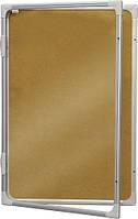 Доска-витрина пробковая 2х3 в алюминиевой рамке 120 x 180 см
