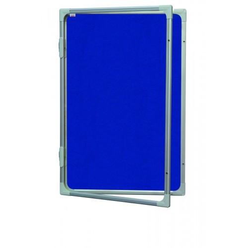 Доска-витрина текстильная 2х3 в алюминиевой рамке 60 x 90 см