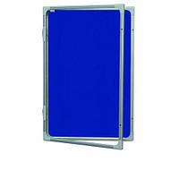 Доска-витрина текстильная 2х3 в алюминиевой рамке 60 x 90 см, фото 1