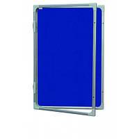 Доска-витрина текстильная 2х3 в алюминиевой рамке 120 x 180 см, фото 1