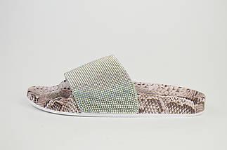 Шлепанцы на платформе 2.5 Sopra WS03 Пудра рептилия, фото 3