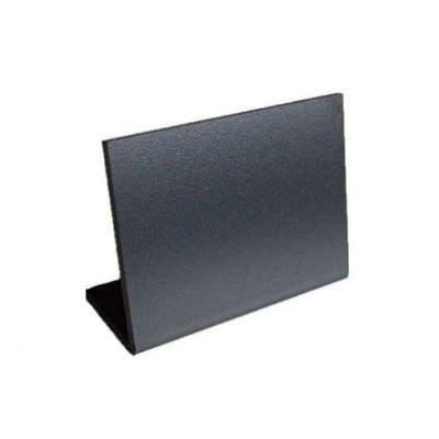 Ценник меловой пластиковый чёрный L-образный 6 х 9 см