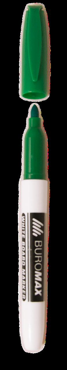 Маркер для сухостираемых досок Buromax зелёный