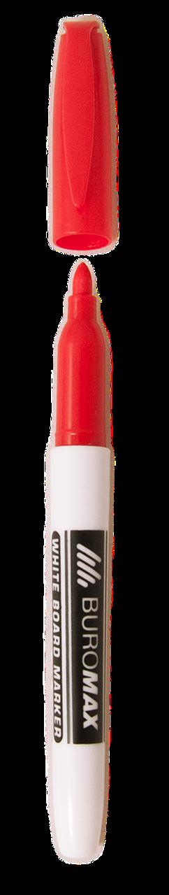 Маркер для сухостираемых досок Buromax красный