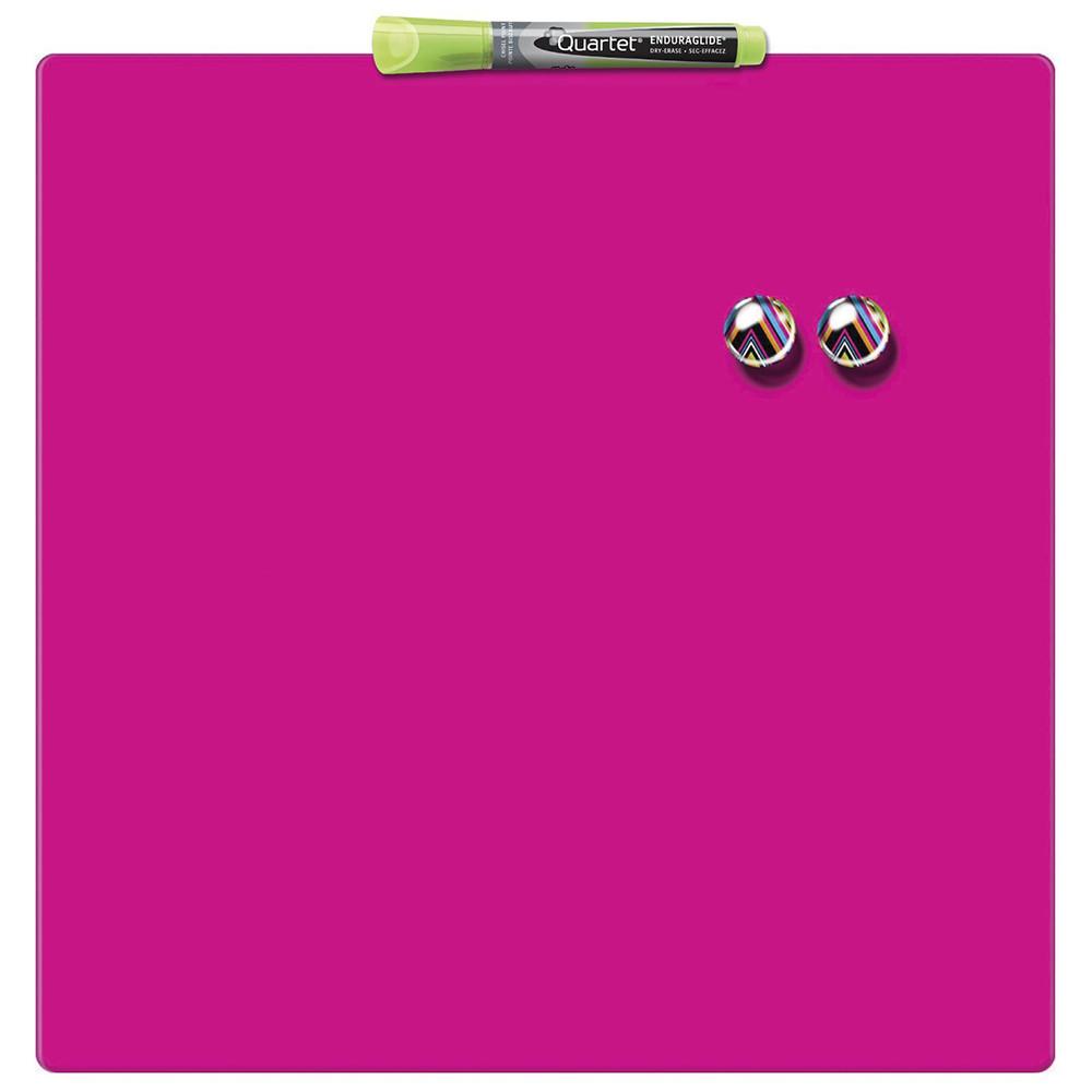 Доска магнитно-маркерная Rexel Quartet Color 36 х 36 см розовая