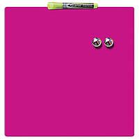 Доска магнитно-маркерная Rexel Quartet Color 36 х 36 см розовая, фото 1