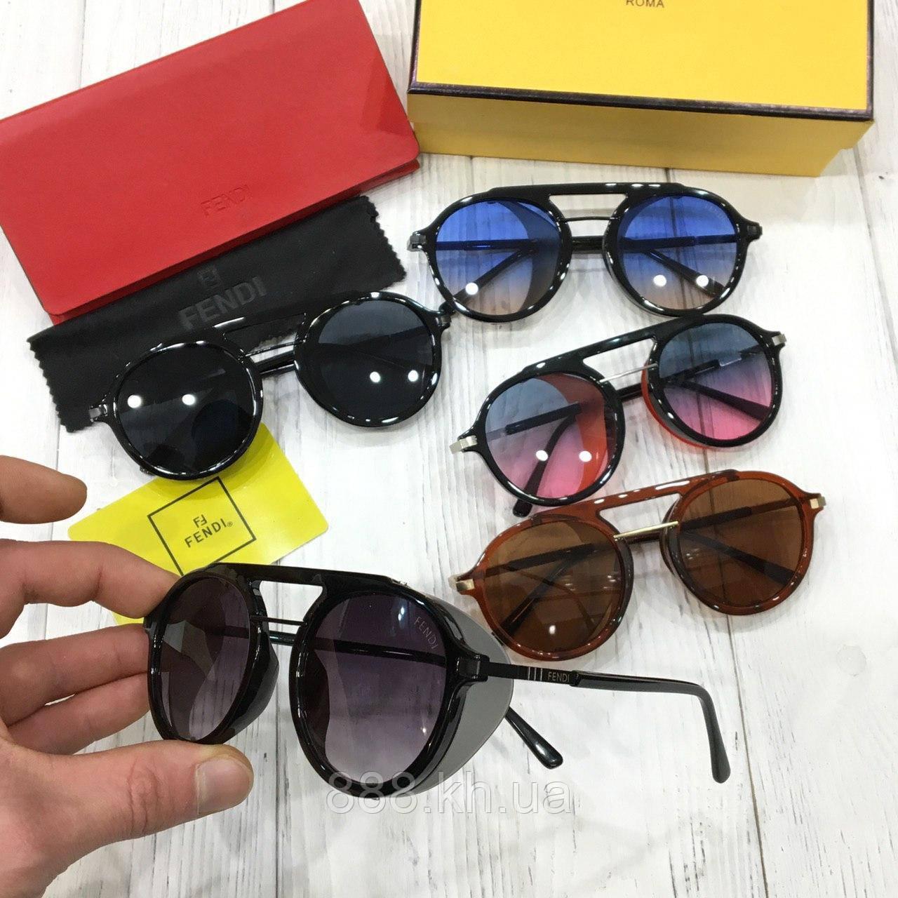 Стильные круглые солнцезащитные очки FENDI