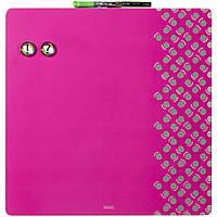Доска магнитно-маркерная Rexel Quartet Combo 35.5 х 35.5 см розовая