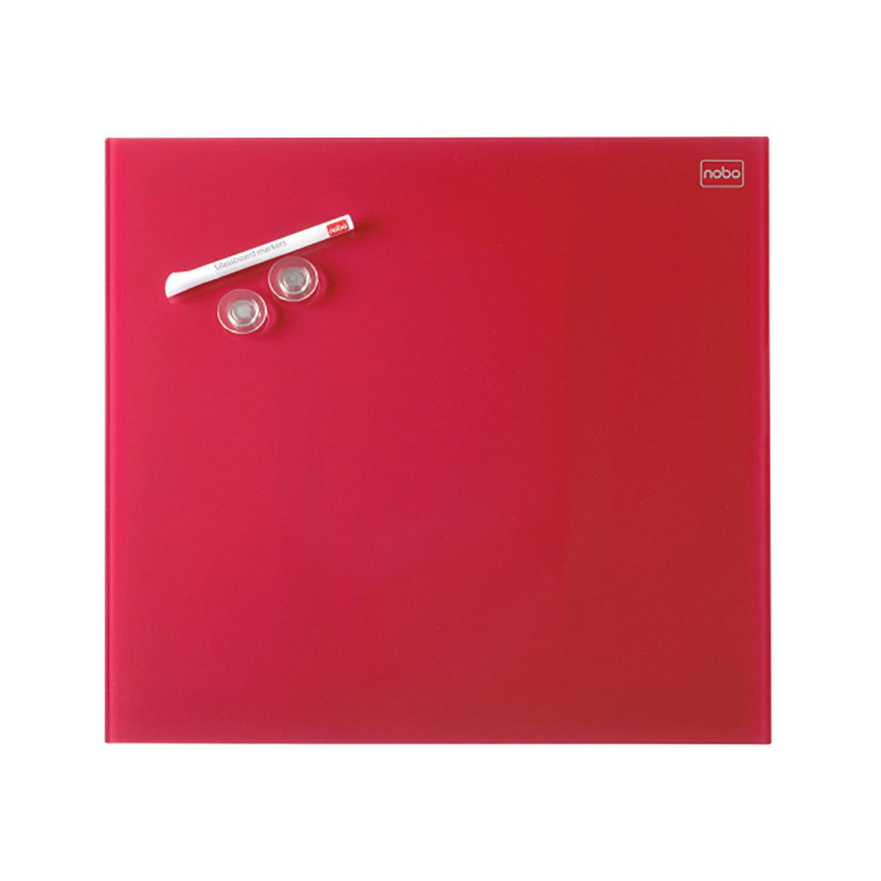 Доска стеклянная магнитно-маркерная Nobo Diamond Glass 30 х 30 см красная