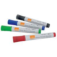Набор маркеров для стеклянных досок Nobo Glass Whiteboard 4 цвета