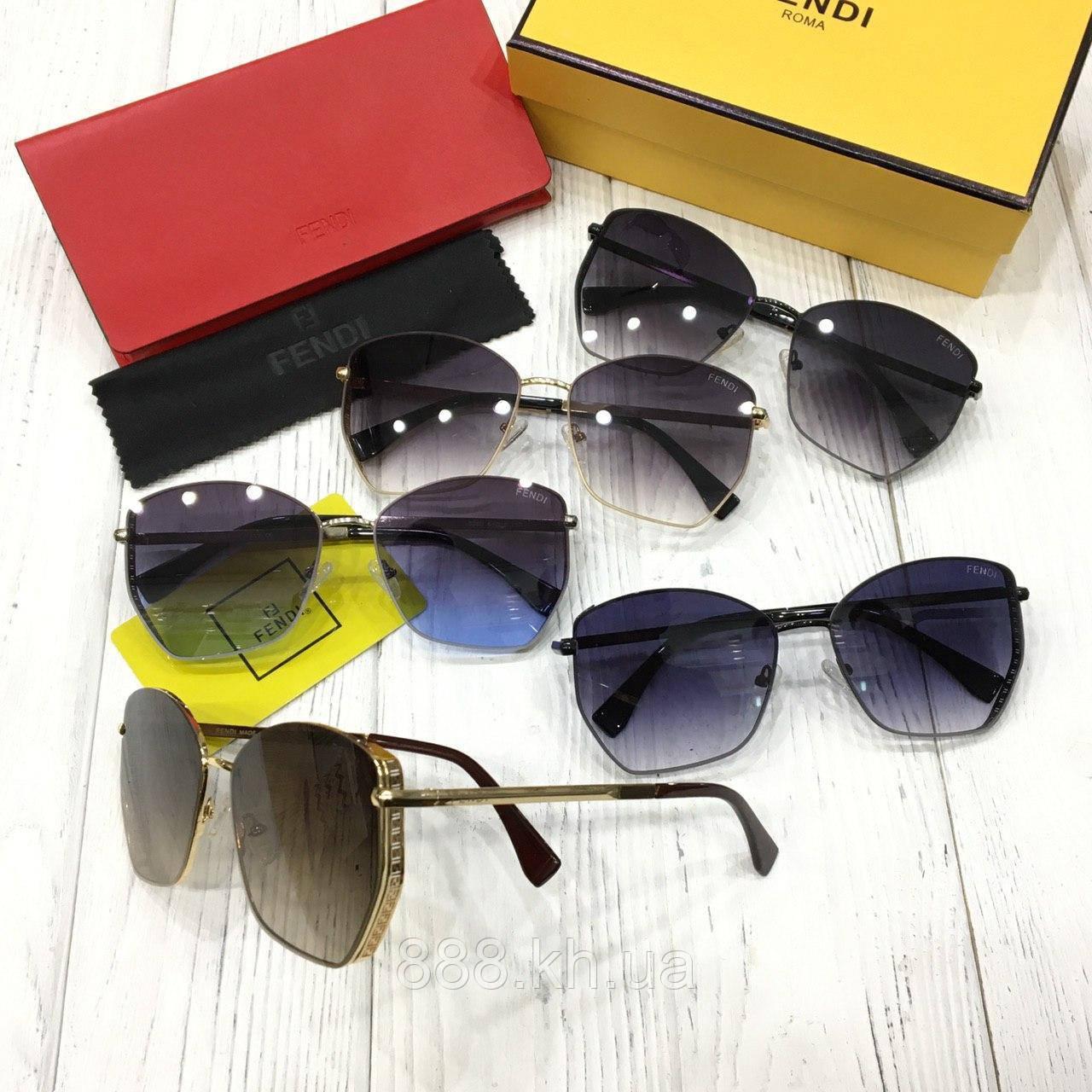 Стильные солнцезащитные очки капельки FENDI