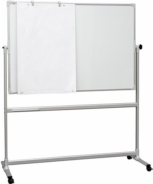 Доска маркерная магнитная 2х3 двухсторонняя мобильная 120 х 180 см лакированная поверхность