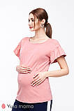 Блузка для беременных и кормящих ROWENA BL-20.052 пыльная роза, фото 2