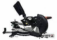 Пила торцьовальна по дереву і металу з лазером і протяжкою YATO 1.8 кВт диск 255 x 25.4 мм