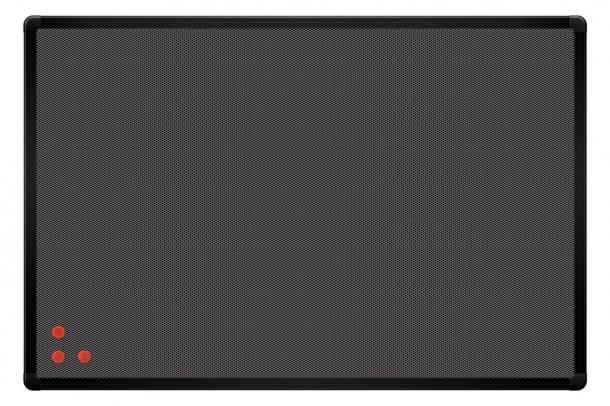 Доска магнитная с металлической сеткой 2x3 PinMag чёрная рамка 60 x 90 см