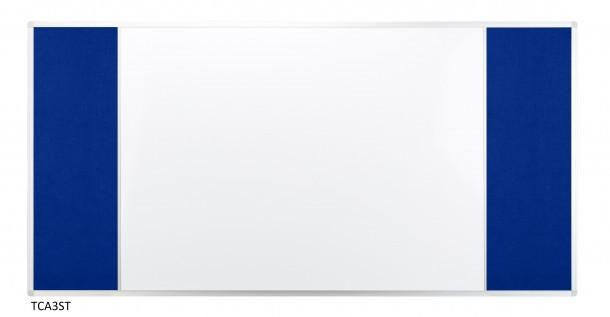 Доска Комби 2x3 лакированная магнитно-маркерная + текстильная поверхность 150 x 100 см