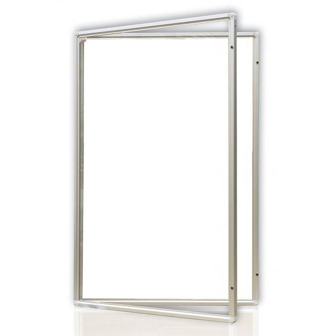 Доска-витрина магнитно-маркерная 2х3 в алюминиевой рамке 90 x 120 см