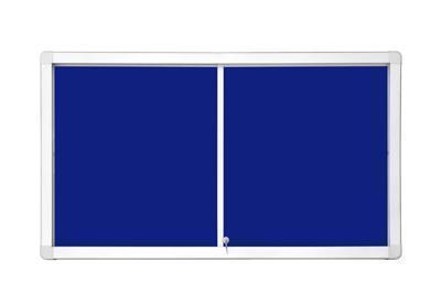 Доска-витрина текстильная 2х3 в алюминиевой рамке 101 x 141 см с передвижными дверцами