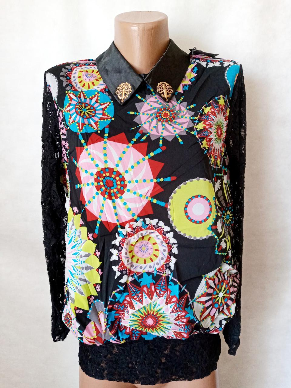Блузы женские шифоновые №601. Размер 42,44,46,48.Цвета разные.. От 16шт по 10грн.