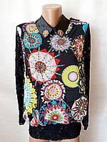 Блузы женские шифоновые №601. Размер 42,44,46,48.Цвета разные.. От 16шт по 10грн., фото 1