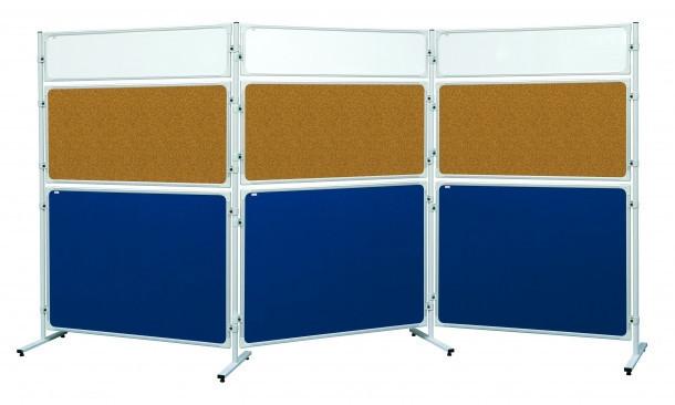 Доска-перегородка 2х3 в алюминиевой рамке 120 x 90 см лакированная сухостираемая магнитная поверхность