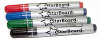 Набор маркеров для сухостираемых досок 2х3 StarBoard 4 цвета