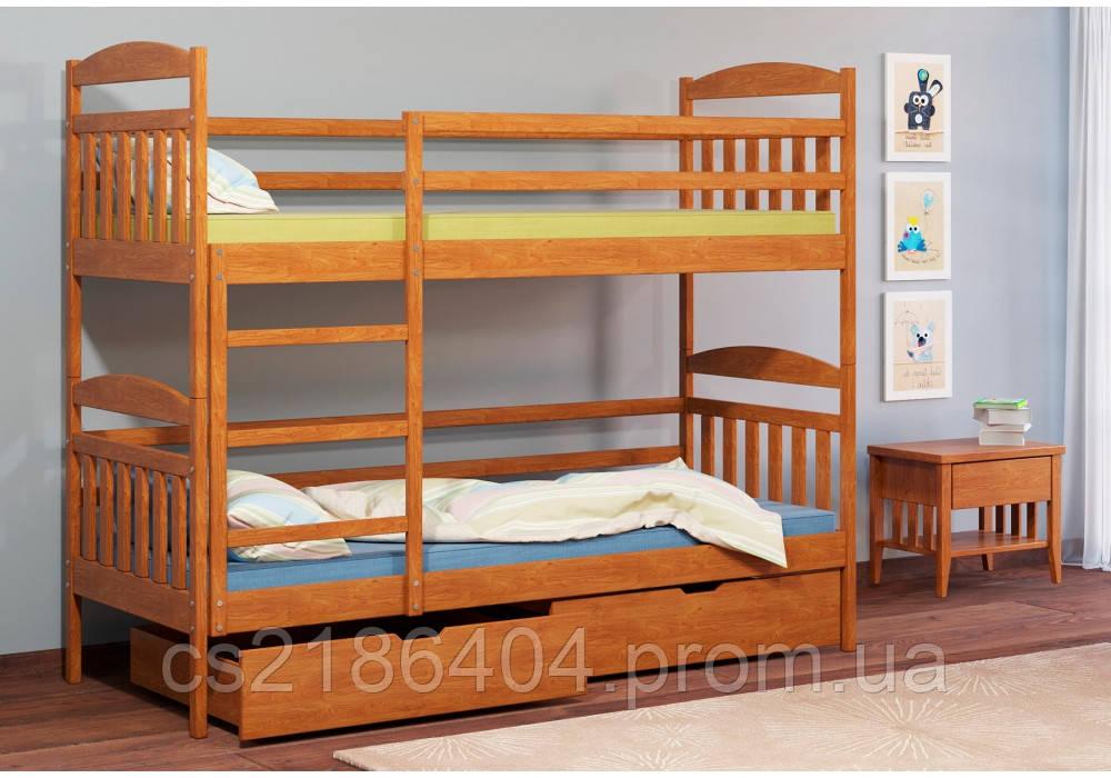 """Двох'ярусне  дерев*не дитяче ліжко сосна """"Алтея"""""""