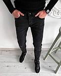 😝 Джинсы сноуп - Мужские штаны (черные), фото 3
