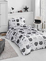 Постельное белье из ранфорса Lovely cats Lighthouse Двуспальный евро комплект