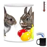 Чашка-хамелеон  Милые Крольчата 330 мл
