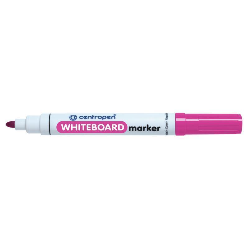 Маркер для сухостираемых досок Centropen 2,5 мм розовый