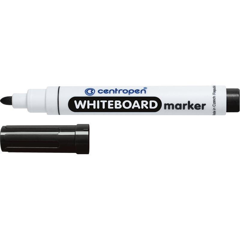 Маркер для сухостираемых досок Centropen 2,5 мм чёрный