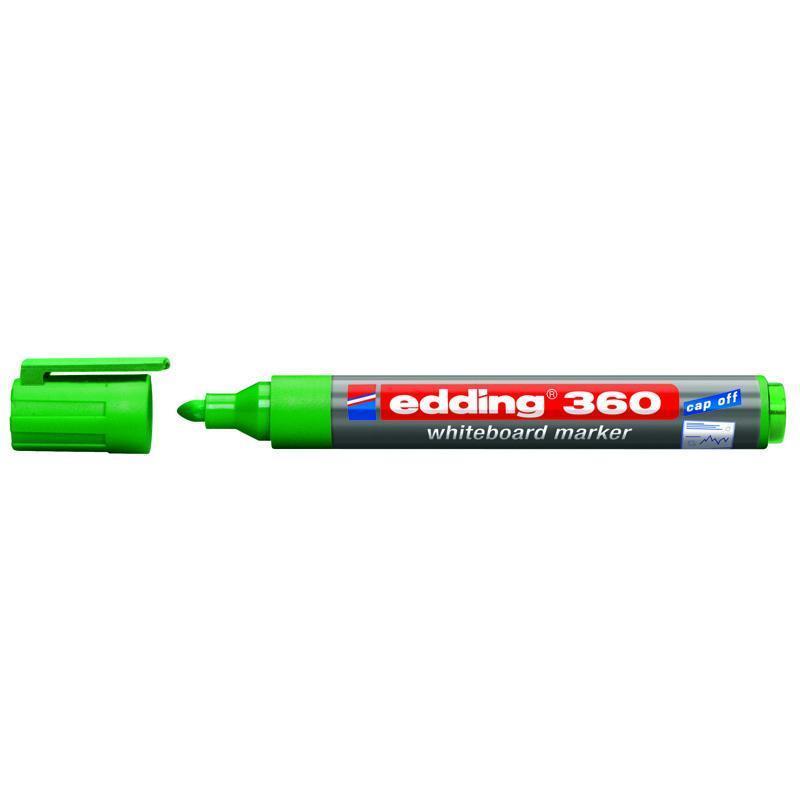 Маркер для сухостираемых досок Edding e-360 1,5-3 мм зелёный