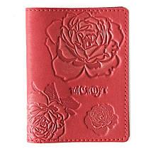 """Обложка на паспорт кожаная """"Розы"""" (Guk)"""