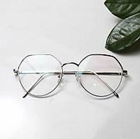 Іміджеві овальні окуляри унісекс сріблясті