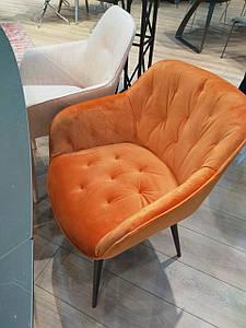 Обеденное кресло VIENA (Виена) оранжевый велюр от Nicolas