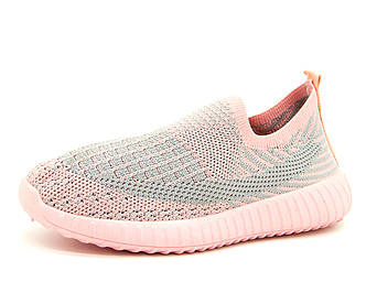 Кроссовки для девочки Серо-розовый Размеры: 32, 33, 34, 35, 36