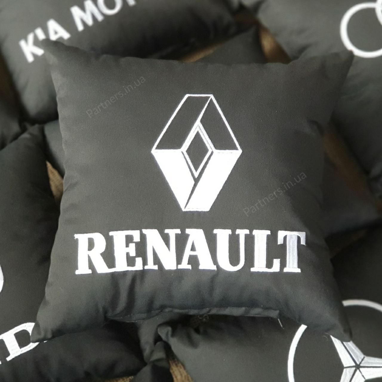 Подушка с логотипом  Рено (Renault)
