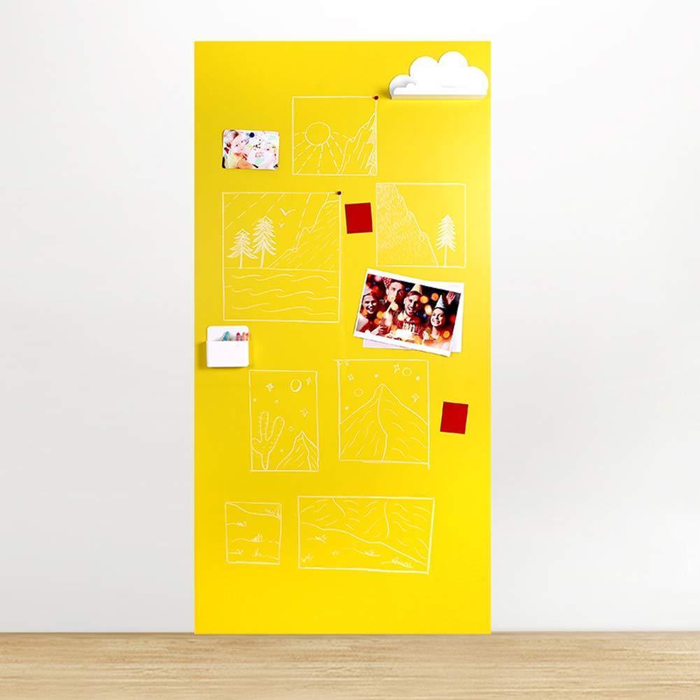 Меловая магнитная плёнка Самоклеящаяся Melmark RS 120 х 100 см. МАТОВАЯ светло-жёлтая