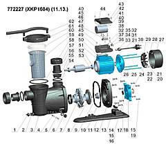 Насос для бассейна 1.6кВт Hmax 17.5м Qmax 450л/мин LEO (772227), фото 2