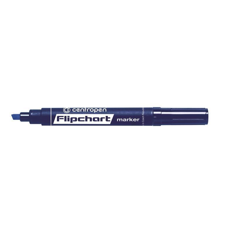 Маркер Centropen Flipchart 1-4,6 мм клиновидный синий