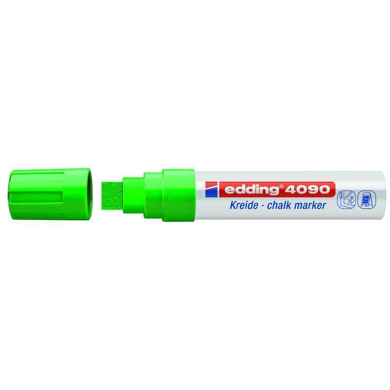 Маркер меловой Edding Window e-4090 4-15 мм клиновидный зелёный