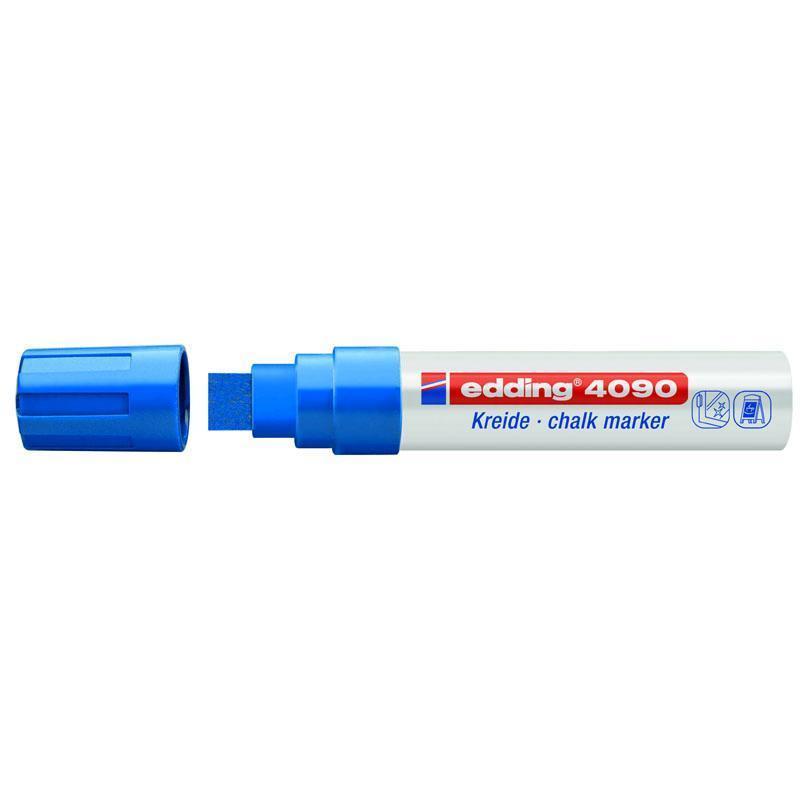 Маркер меловой Edding Window e-4090 4-15 мм клиновидный синий