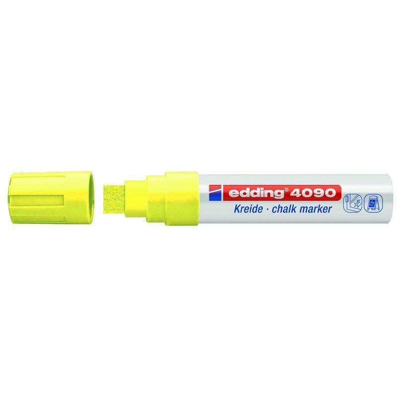 Маркер меловой Edding Window e-4090 4-15 мм клиновидный жёлтый