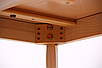 Стол обеденный раздвижной Чедер AMF бук беленый, фото 7