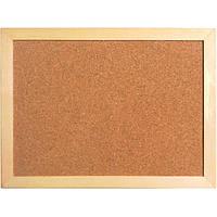 Доска пробковая Axent деревянная рамка 45 х 60 см + 6 гвоздиков