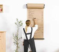 Доска-меню из Крафт-бумаги в рулоне с держателем Melmark 64 см 100 м чёрный